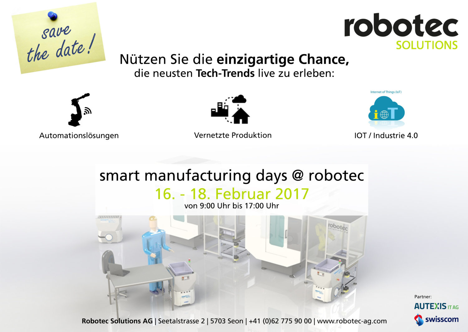 Autexis ist an den smart manufacturing days @ robotec